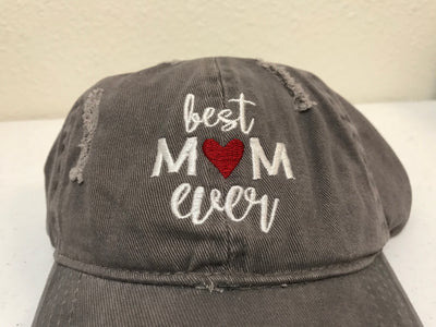 Best Mom Ever Embroidered Baseball Cap