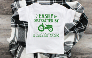 Easily Distracted By Tractors Youth Tee