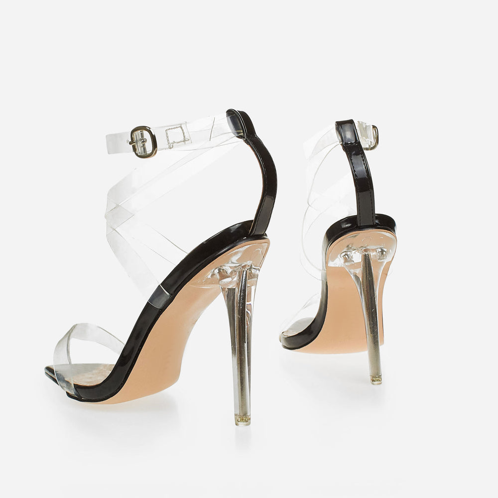 eb0e8027f2f Barely There Perspex Pointed Toe Heel In Black