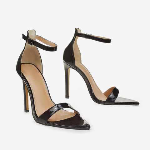 8eb53ccd355 Barely There Pointed Toe Heel In Black
