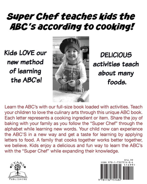 Super Chef ABC's: Alphabet According To Cooking Activity Book