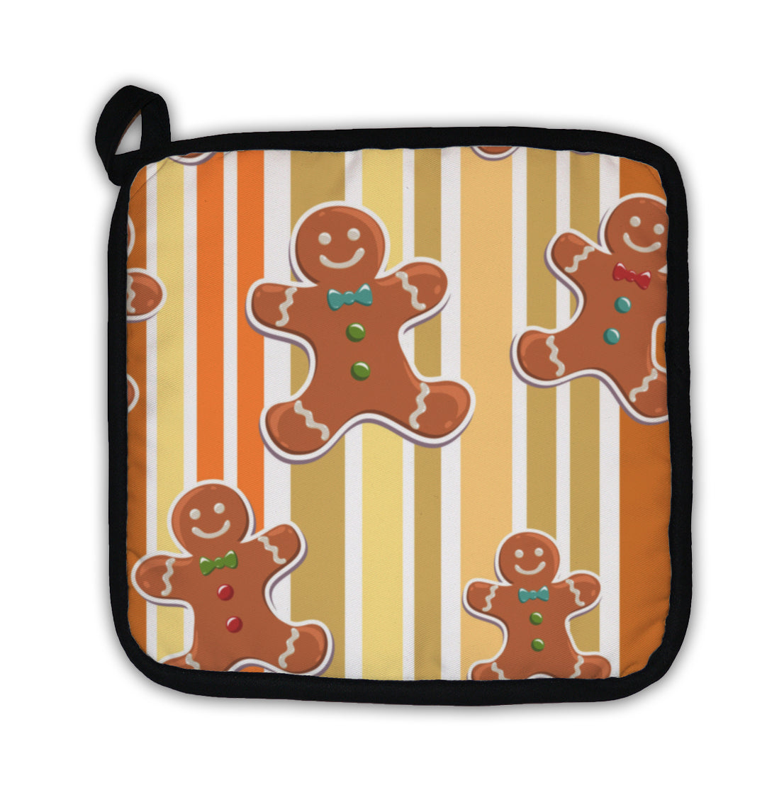 Potholder, Gingerbread Man Christmas Pattern