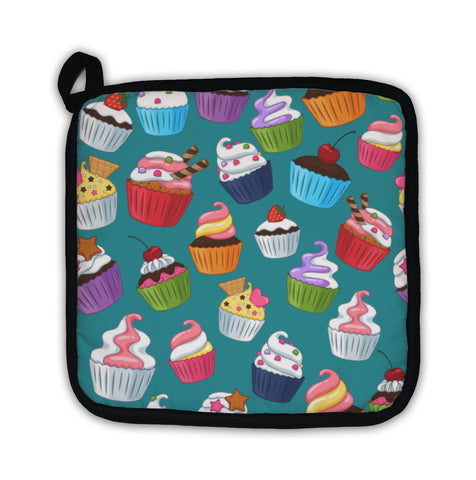 Potholder, Cupcakes Pattern Colorful