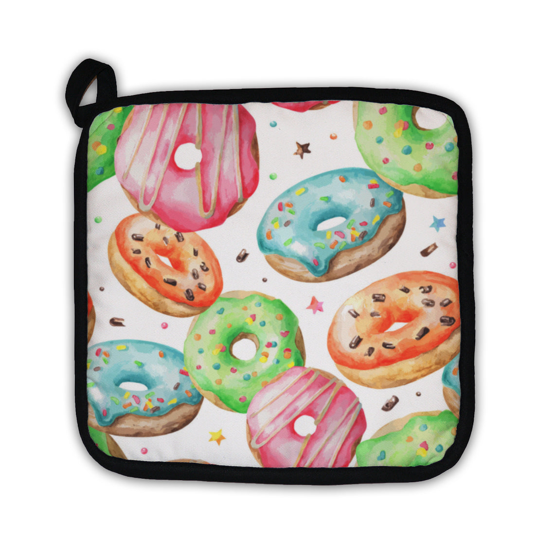 Potholder, Sweet Donuts Watercolor Pattern