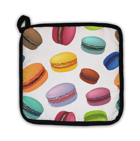 Potholder, Pattern With Colorful Macarons Cookies