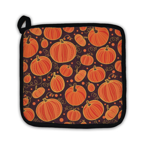 Potholder, Thanksgiving Pumpkins Pattern