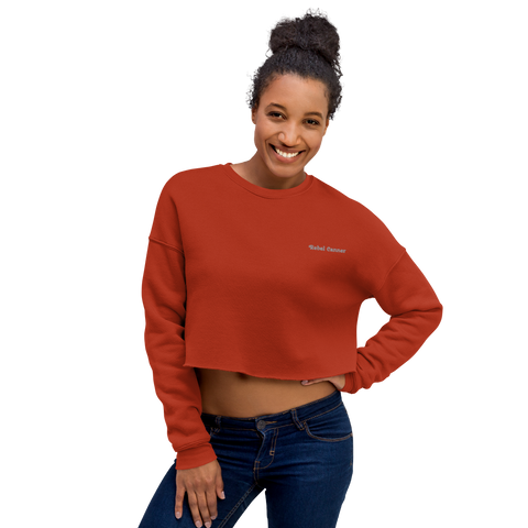 Rebel Canner-Crop Sweatshirt-Gray
