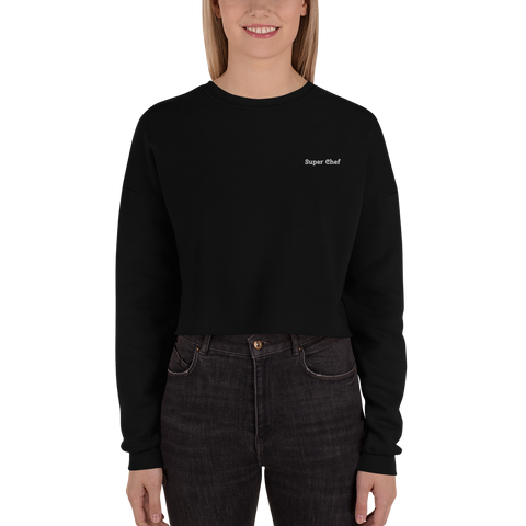 Super Chef-Crop Sweatshirt