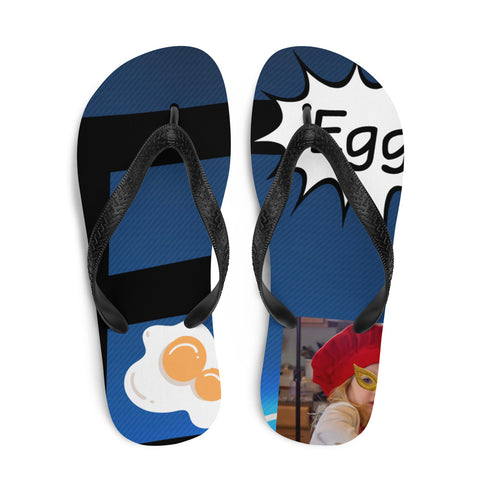 E Is For Egg-Flip-Flops