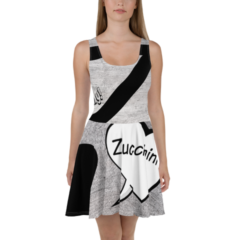 """Cook With Your Family""-Z-Zucchini-Skater Dress"