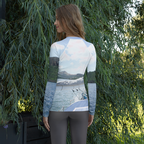 Sailboat-Women's Rash Guard