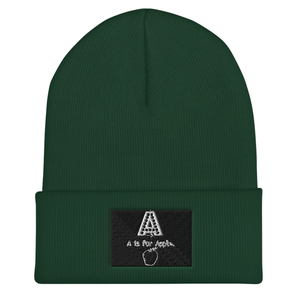 A Is For Apple-Cuffed Beanie