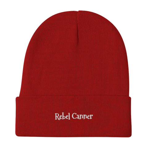 Rebel Canner-Embroidered Beanie