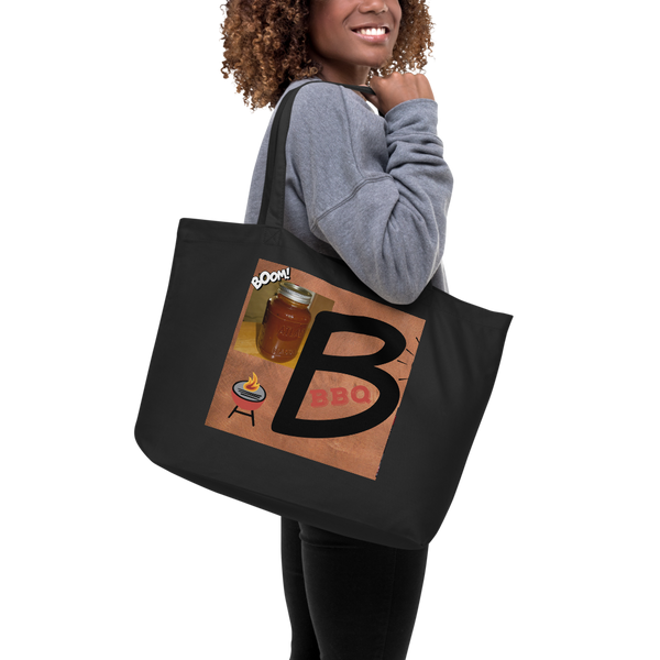 B Is For BBQ-Large Organic Tote Bag