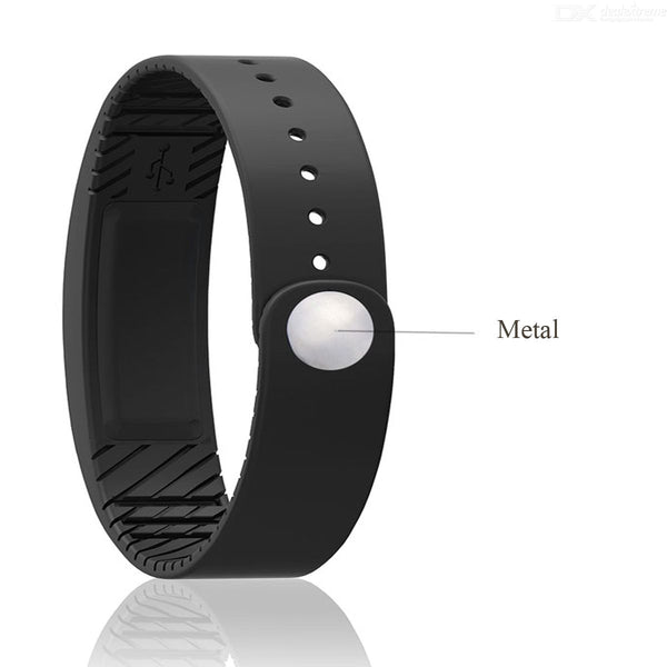 W6 Smart Bluetooth Sports Health Wearable Wristband Watch w/ LED Fitness Tracker / Pedometer - Black