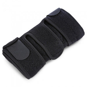 HX004 4-Spring Adjustable Sports Knee Pad for Outdoor Riding - Black