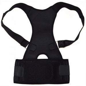 Back Waist Support Belt Correcting Tape for Lumbar Back Bone Care, Unisex Medical Brace Posture Corrector Corset for Men Women XXL/Black