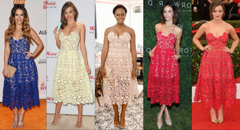 Celebrities wearing Self-Portrait Azalea Dress
