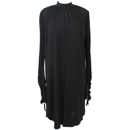Temperley London_Black Silky Jersey Turtleneck Dress_UK12