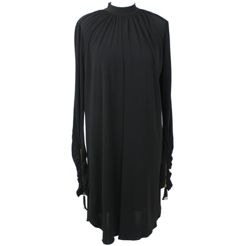 Temperley London Black Silky Jersey Turtleneck Dress UK12