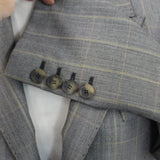 Kwaidan Editions Brand New $2700 Sage & Black Houndstooth Wool Mix Coat F40
