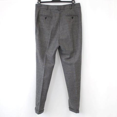Dolce & Gabbana_Charcoal POW Check High Rise Tapered Pants_I42