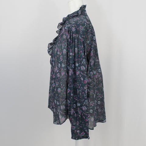 Isabel Marant Grey Cashmere Loose Woven Scarf