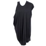 Chanel Black Cashmere & Silk Knit Asymmetric Tunic Dress F40