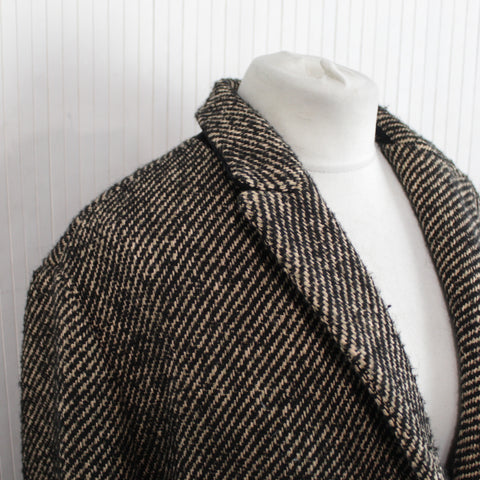 Forte Forte_Black & Burnt Sugar Wool & Cotton Mix Jacket_S