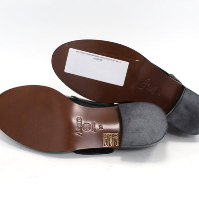 Acne Studios_Brand New Black Leather Velcro Strap Flats_37