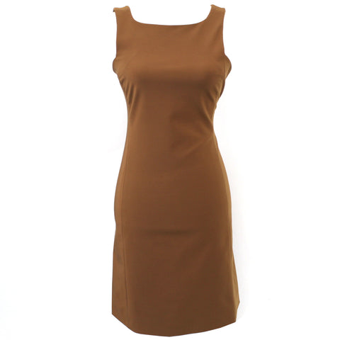 Prada_Toffee Stretch Nylon Shift Dress_I38