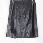Chanel Black Lambskin Pleat Skirt F40