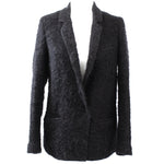 Forte_Forte Black Fluffy Boucle Wool Mix Jacket Sz1