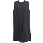 Anya Hindmarch Charcoal Logo Embossed Large Shoulder Bag