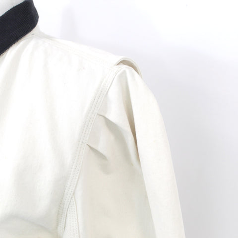 Anna Lascata_ Navy Donegal Lambswool Tweed Princess Coat _F36