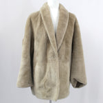 Sprung Frères £2000 Putty Lambskin Reversible Shawl Collar Jacket M