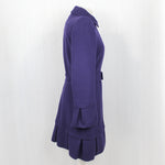 Roberto Cavalli Purple Wool & Cashmere Belted Coat I42