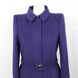 Roberto Cavalli_Purple Wool & Cashmere Belted Coat_I42