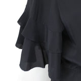 Club Monaco_Brand New Navy Silk Chiffon Bomber Jacket_S