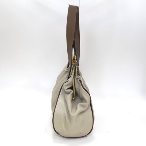 Marni_Putty & Cocoa Rigid Frame Handbag