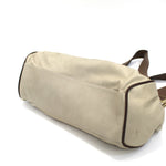 Christian Dior Natural Canvas & Leather Shoulderbag