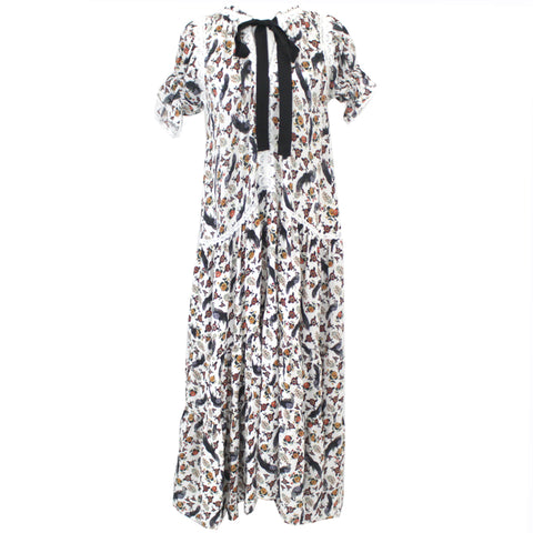 Leon & Harper Red Floral Cotton Strappy Maxi Dress M