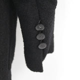 Chanel_Black Boucle Wool Longline Jacket with Removable Cream Silk Blouse_F40