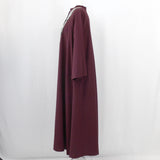 Forte Forte_Merlot Wool Mix Embroidered Bib Maxi Dress_Sz1