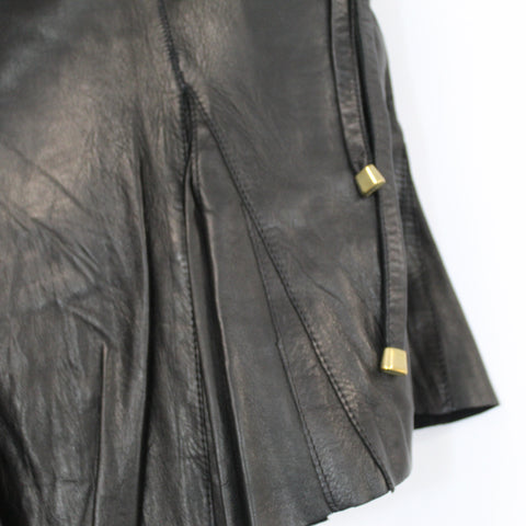 Collette Dinnigan_ Black Wool Jersey Dress with Cafe Cutwork Front Panel_L