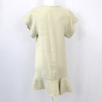 Chloe Vanilla Cotton Drawstring Shirt Dress F38