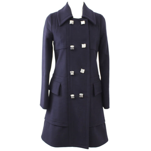 Marc by Marc Jacobs_Navy Thick Wool Mix Silver Button DB Coat_XS