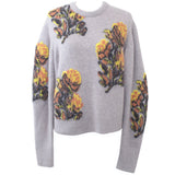 Chloe_Brand New £845 Foggy Lilac & Yellow Floral Intarsia Sweater_XL