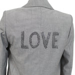 Helene Berman Navy Sequinned Evening Jacket UK8