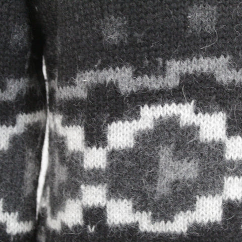 Pinotti_Black Pure Cashmere Fancy Knit Poncho_OS
